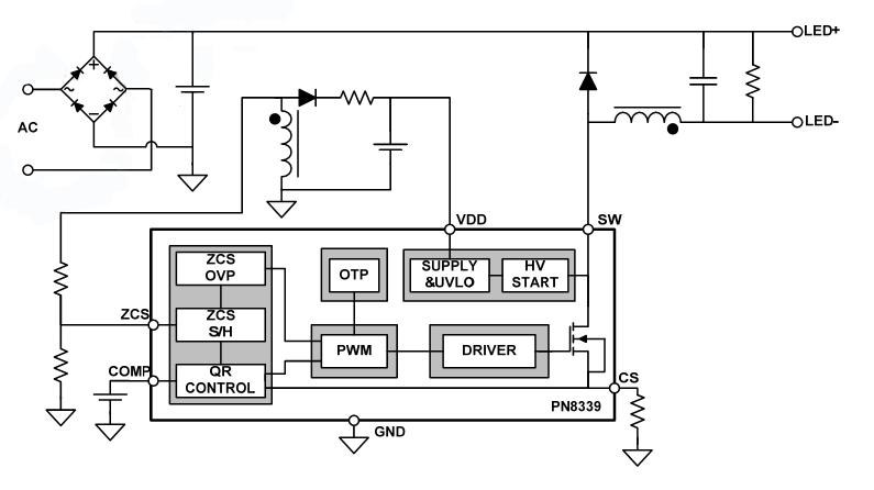 3w led驱动芯片应用电路