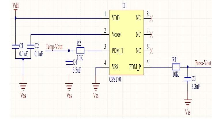 气压传感器应用电路