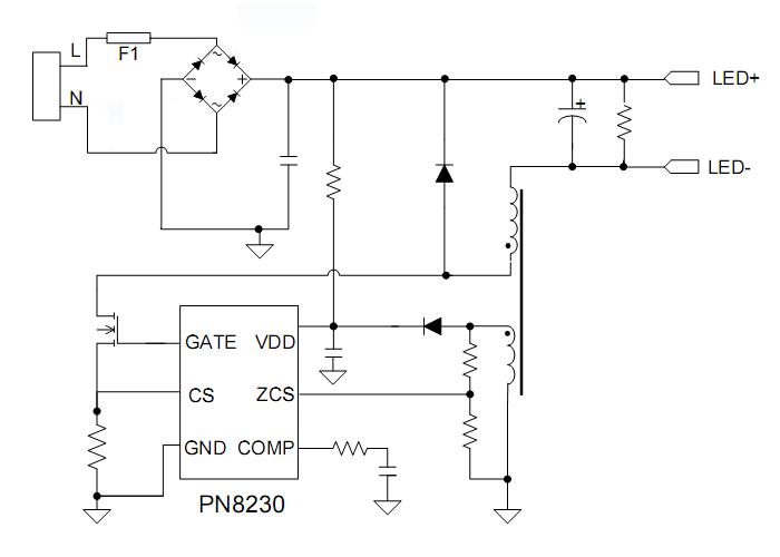 led筒灯驱动芯片应用电路
