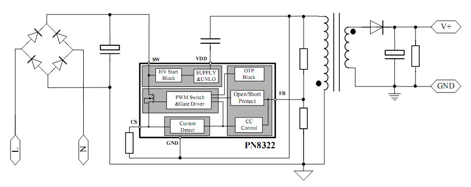 集成电路(ic)-led射灯驱动ic-pn8322-集成电路(ic)尽