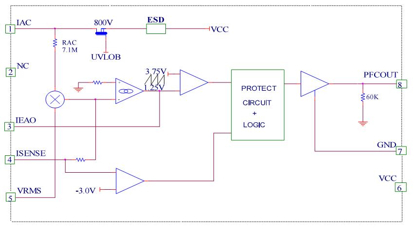led面板灯驱动芯片应用电路