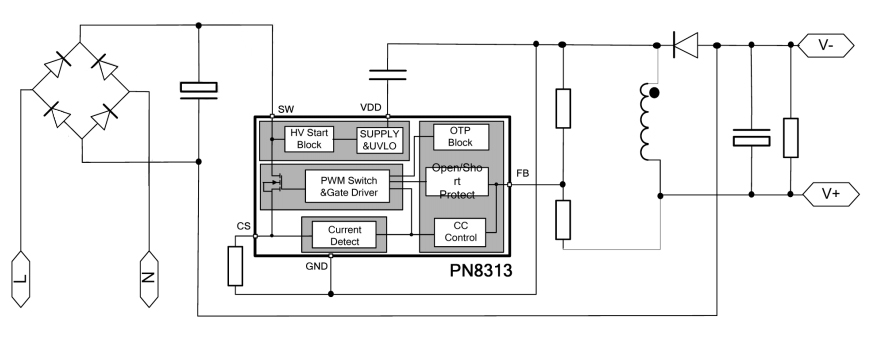 小功率led驱动芯片应用电路