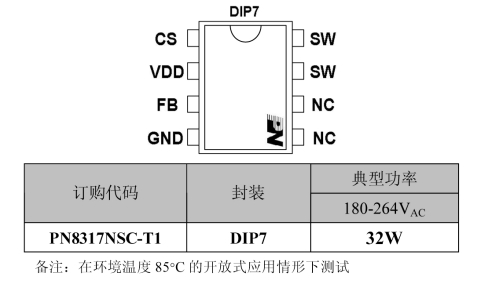 50w 非隔离led驱动芯片-芯朋微pn8317
