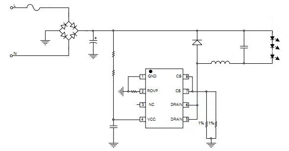 适用于85v~265v 全范围输入电压的非隔离降压型 led 恒流电源芯片--sd