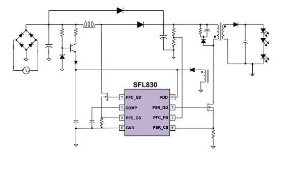 准谐振控制,boost-pfc/psr combotm(升压pfc/psr恒流)组合控制器--sf