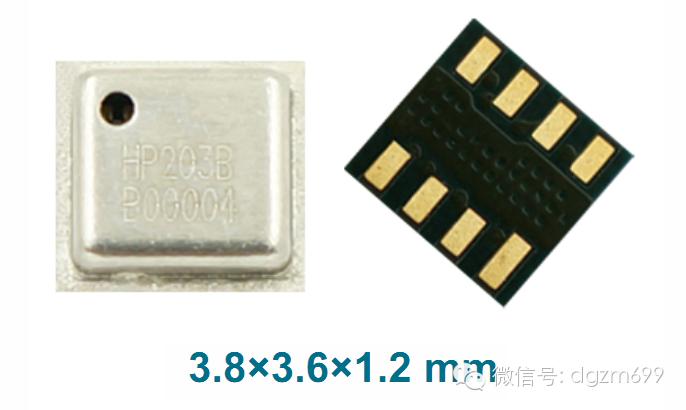 第一品牌的中国气压传感器芯片-hp203b