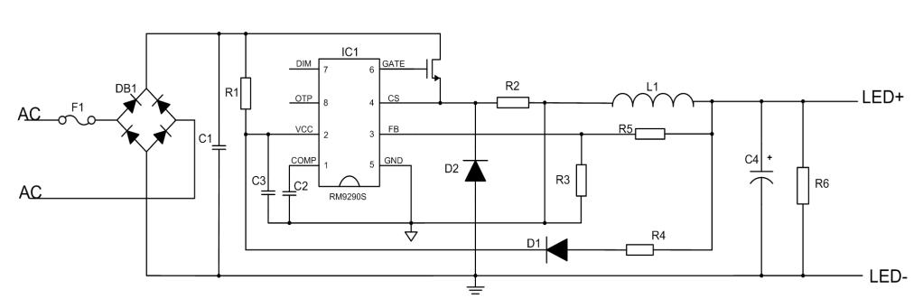 低thd功率因数led驱动芯片-rm9290s