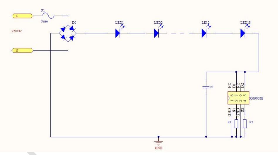 供应亚成微高压线性驱动ic rm9002e    四,应用领域   ◆ led日光灯管
