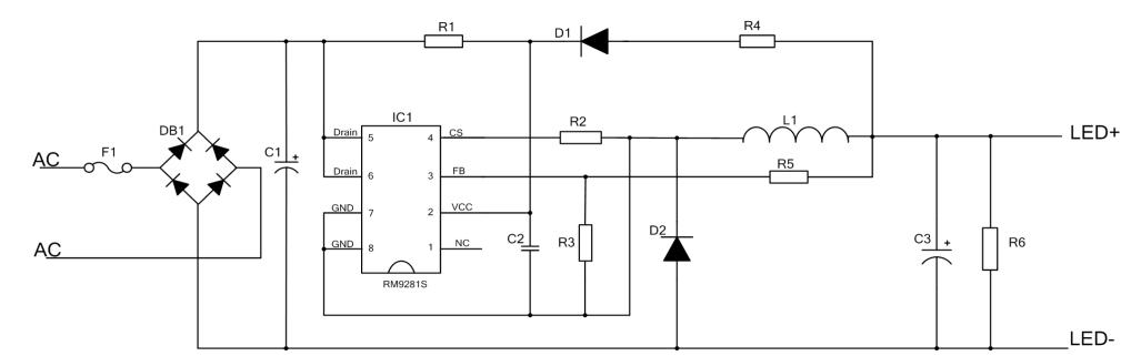 18w非隔离开光调光led驱动芯片- rm9281s