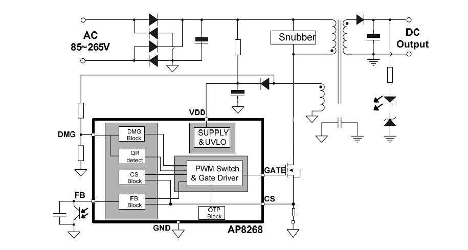 管短路保护   三 应用领域 ■ 待机电源 ■ 开放式开关电源 ■ 适配器