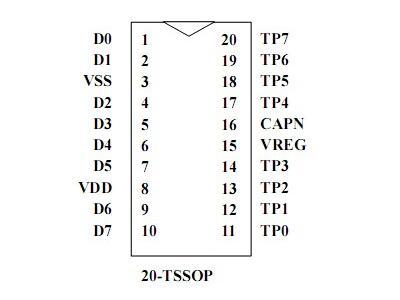 通泰8 keys电容式触摸按键--tty6108