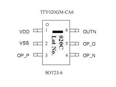 通泰低功耗人体红外用智能放大芯片--TTY012M/TTY020